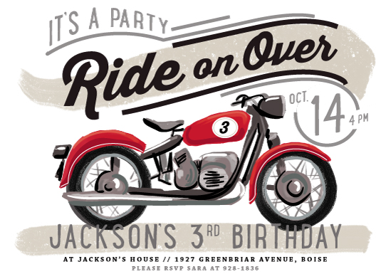 birthday party invitations - birthday rider by Rebecca Durflinger
