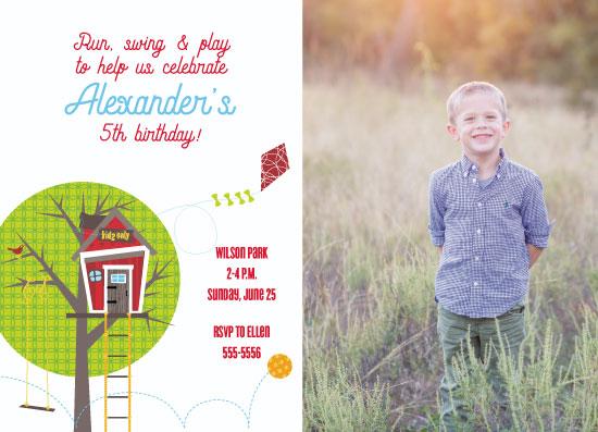 birthday party invitations - Tree House by Kim Byers