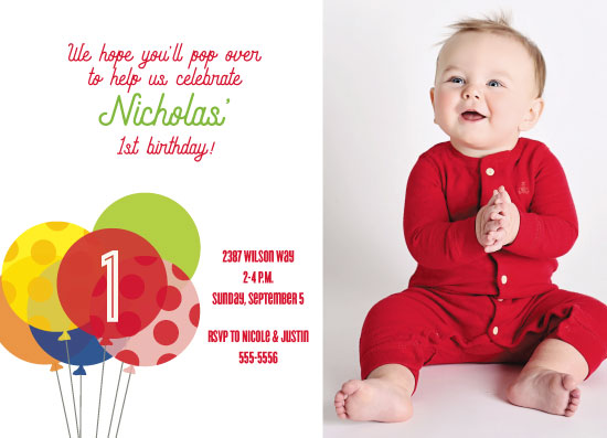 birthday party invitations - Up Up & Away Birthday by Kim Byers