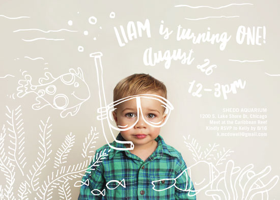 birthday party invitations - Snorkel 'n See by Amy James