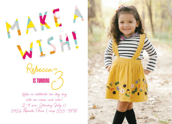 birthday party invitations - Make A Wish Geometric by Kim Byers