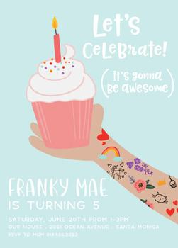 tattooed cupcake celebration