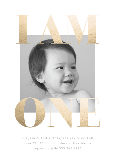 birthday party invitations - i am one by Phrosne Ras