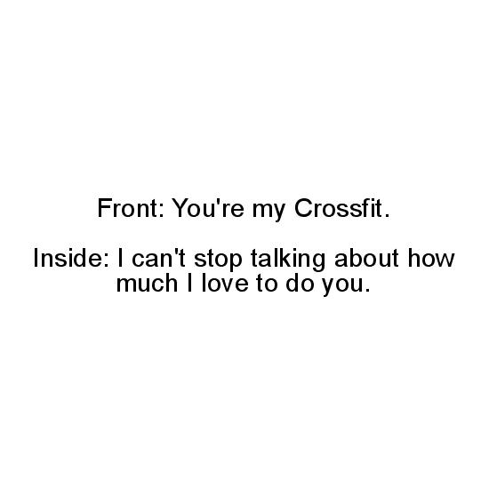 greeting card - Crossfit Love by Riane Konc