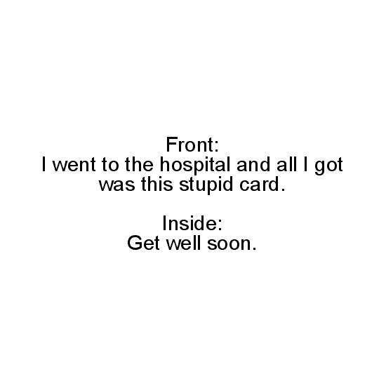 greeting card - Stupid Card by Hannah Wilson