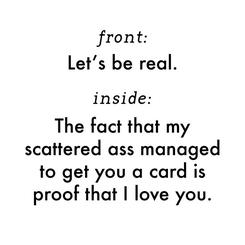 Realness.