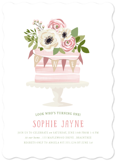 birthday party invitations - Sophisticated One by Paula Pecevich