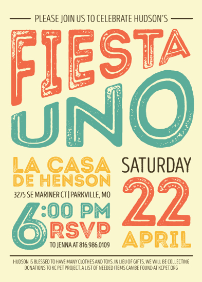birthday party invitations - Viva La Birthday Fiesta by Champagne Paper Co.