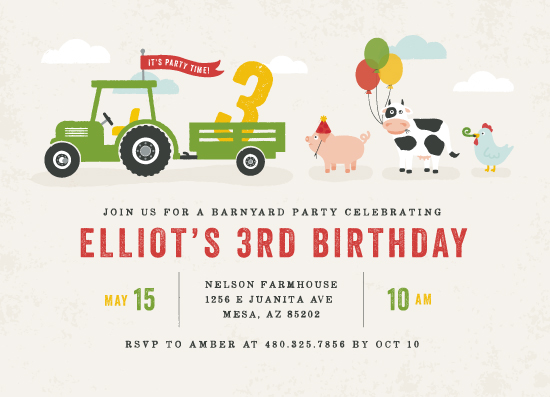 birthday party invitations - Party Parade by Michelle Taylor