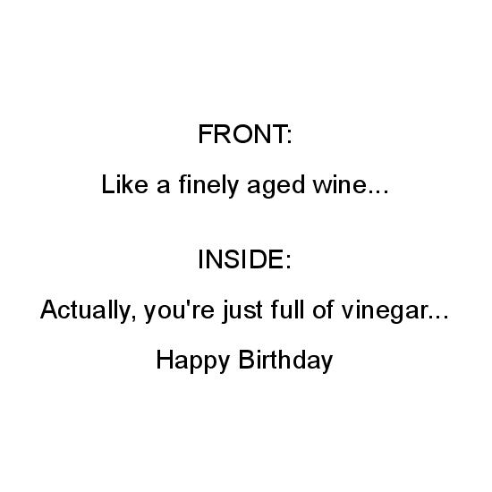 greeting card - Fine Wine Birthday by Todd Brault