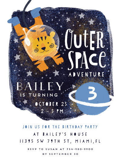 birthday party invitations - Outer Space by iamtanya