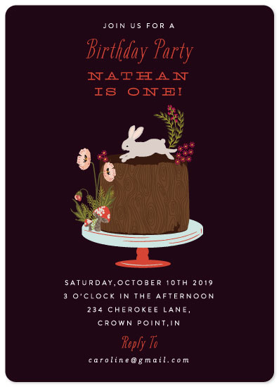 birthday party invitations - Autumn Celebration by Nazia Hyder