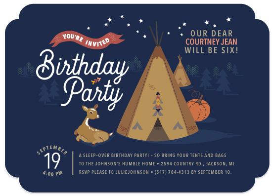 birthday party invitations - Bring the Tipi Birthday Party by Tresa Meyer-Clark