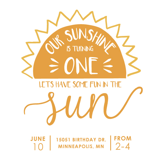birthday party invitations - Fun in the Sun by Chrissie Parker