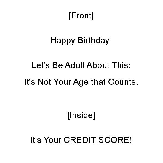 greeting card - It's Not Your Age that Counts by Mariecor Agravante