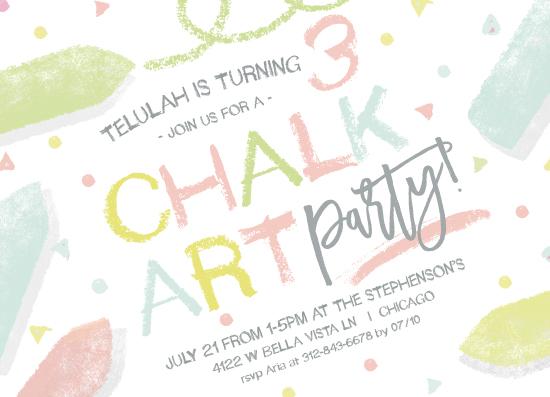 birthday party invitations - chalk it up! by pandercraft