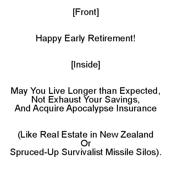 greeting card - Advice on Your Early Retirement by Mariecor Agravante