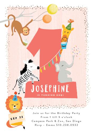 birthday party invitations - dundee by chocomocacino