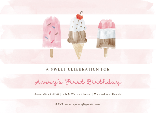 birthday party invitations - Sweet Treats by Shirley Lin Schneider