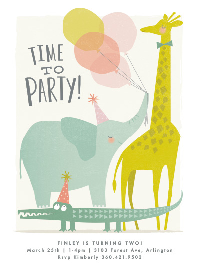 birthday party invitations - Time to party! by Karidy Walker