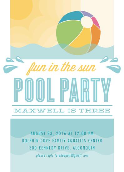 birthday party invitations beach ball at minted com