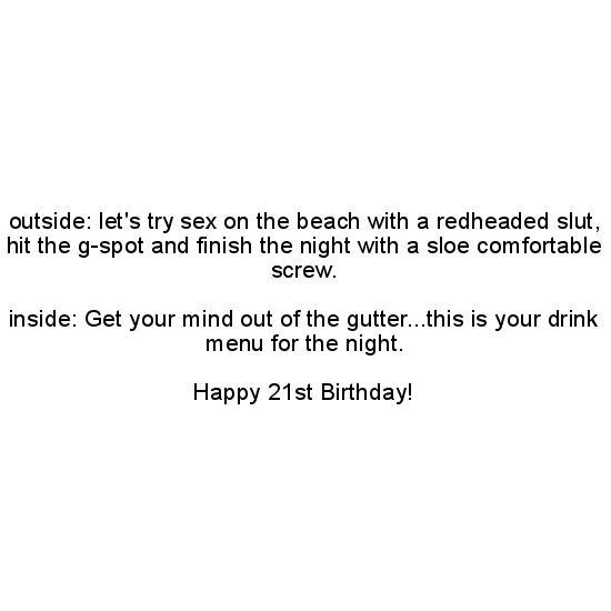 greeting cards - Drunken 21st Birthday by Donna Jungman