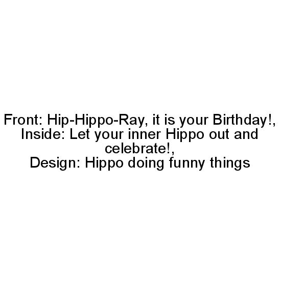 greeting card - Hip-Hippo by Tairasol