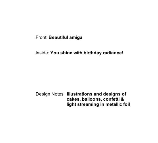 greeting card - Beautiful Amiga by Greta Lil Taxis