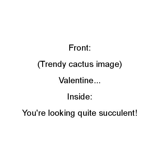 greeting card - succulent Valentine by Noelle Sanderson