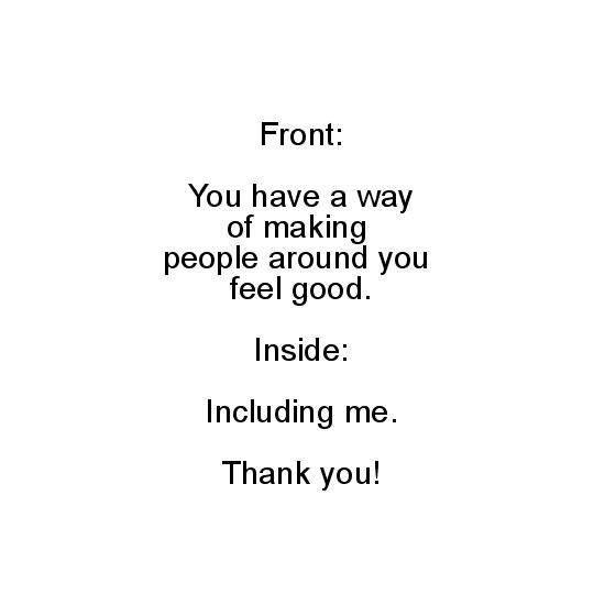 greeting card - you make nice feelings by Noelle Sanderson