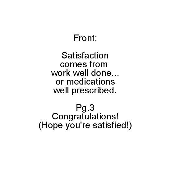 greeting card - hope you're satisfied by Noelle Sanderson