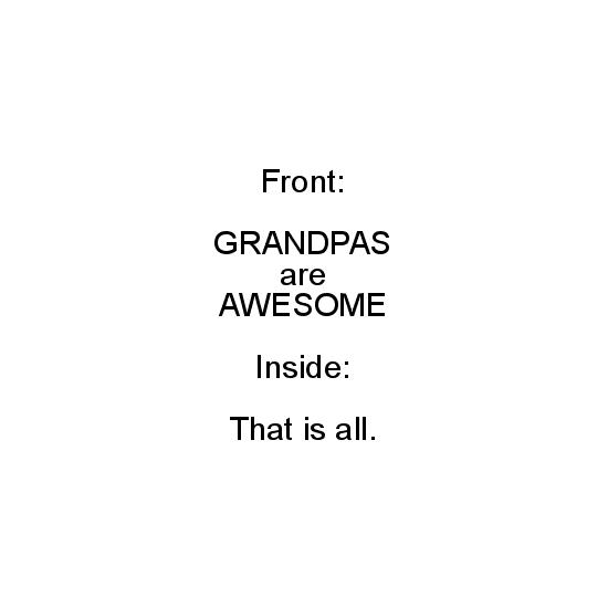 greeting card - Grandpas are AWESOME by Noelle Sanderson