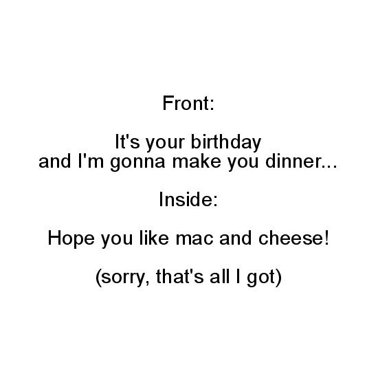 greeting card - Mac and cheese by Jo Wiggins