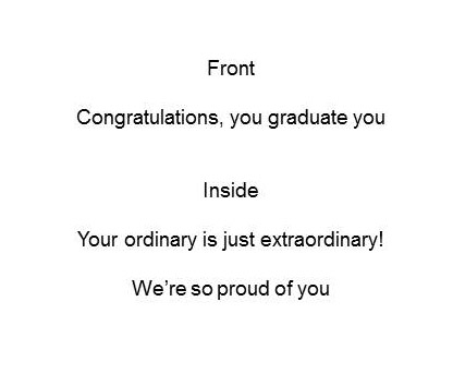 greeting card - You Grad You by Christina Wootton