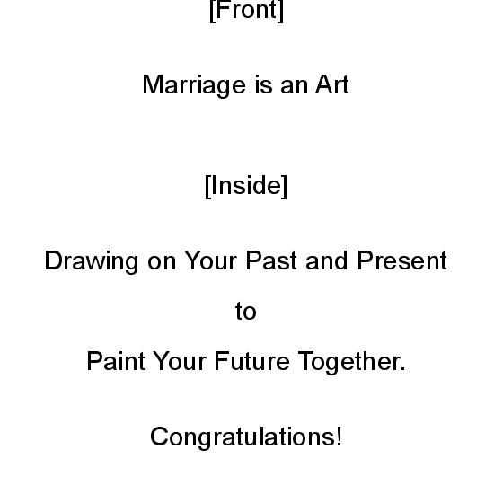greeting card - Marriage is an Art by Mariecor Agravante
