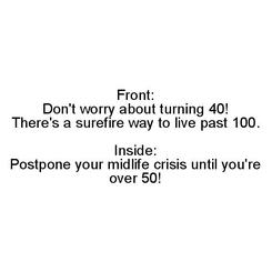 Enjoy Your 40's