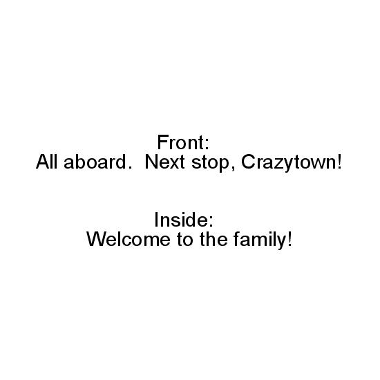 greeting card - All Aboard Crazytown by Erin Matzen