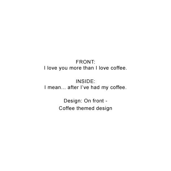greeting card - Love and Coffee by Natasha Price