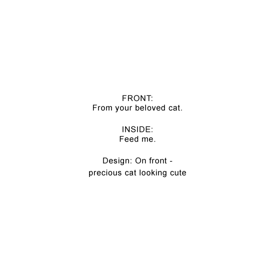 greeting card - Your cat loves you by Natasha Price