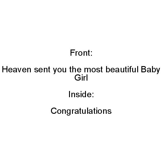 greeting card - Heaven Sent Baby Girl by Jan Shepherd