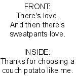 Sweatpants Love by Elke