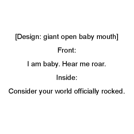 greeting card - I Am Baby by Chapeau et Gateau