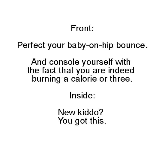 greeting card - Baby On Hip Bounce by Chapeau et Gateau