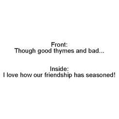 Seasoned Friends