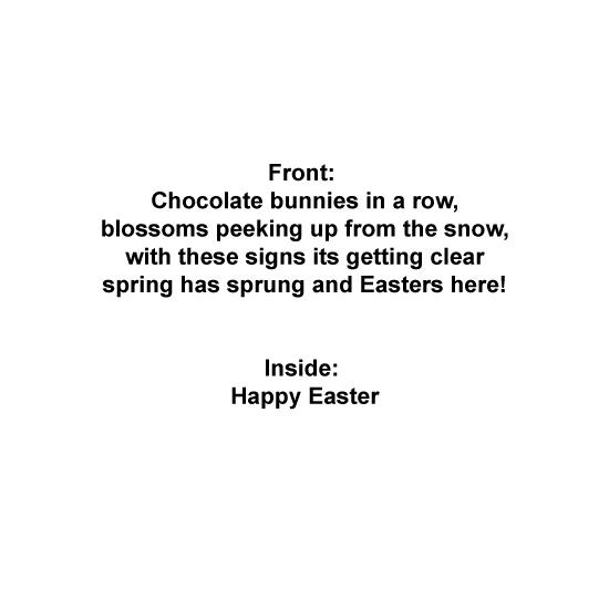 greeting card - Chocolate Bunnies by Lynda Sutherland