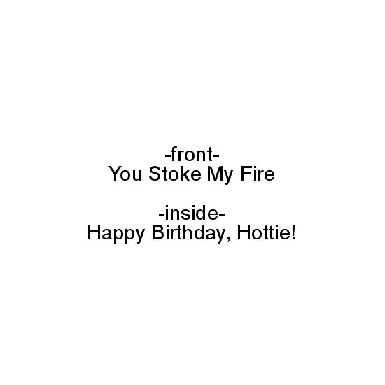 greeting card - Hottie by Cara Trautman