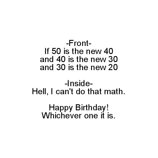 greeting card - 50 is the new 40 by 2aT