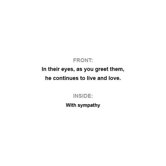 greeting card - Sympathy: Live Love by Al Harvey