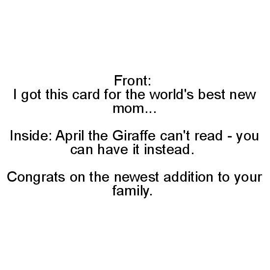 greeting card - April the Giraffe by Francesca Krempa