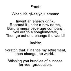 Graduation Lemons
